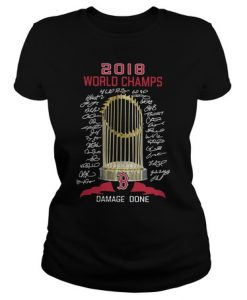 2018 world champs damage done t shirt