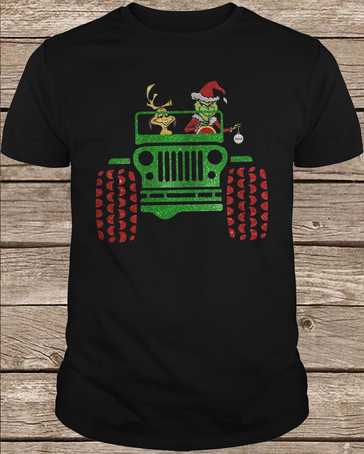 Max And Grinch Jeep t shirt