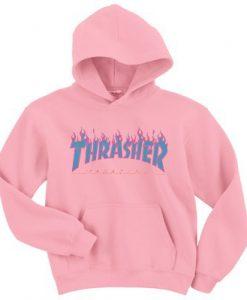 Thrasher Blue Fire hoodie