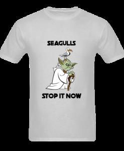Yoda Seagulls stop it now grey t shirt