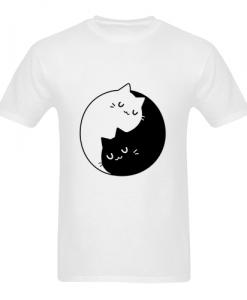 yinyang cat t shirt