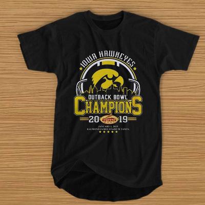 10wa hawkeyes outback bowl champions 2019 t shirt