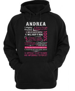 Andrea highly eccentric extra tough hoodie