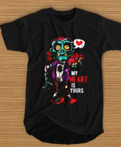 My Heart Is Yours Zombie Brains t shirt
