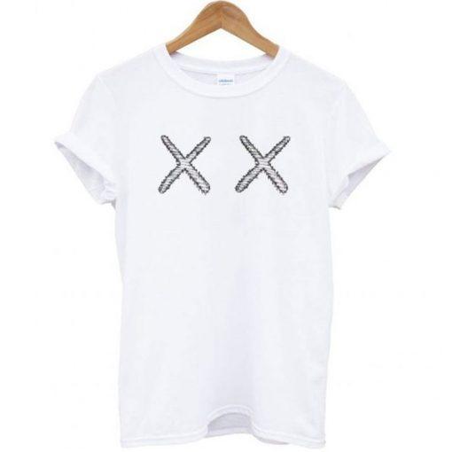 KAWS X UNIQLO - XX Classic Logo White t shirt