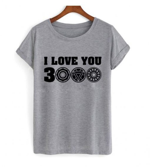 I Love You 3000 Graphic Grey t shirt