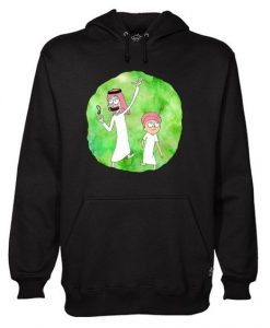 Arabian Rick and Morty hoodie