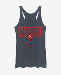 Marvel Spider-Man Brick Spidey Girls tank top