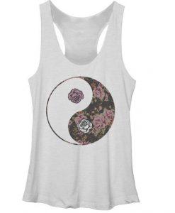 Yin Yang Roses tank top