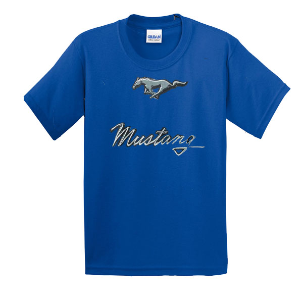 mustang logo t shirt