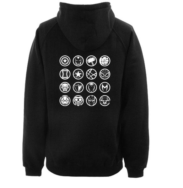 Avengers Heroes Icon Back hoodie