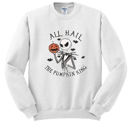 Jack Skellington All Hail the Pumpkin King Pullover sweatshirt