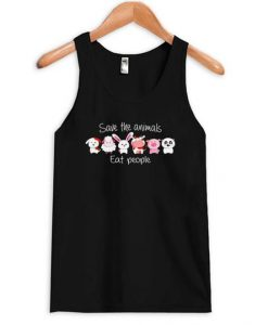 Save The Animals Eat People tank top