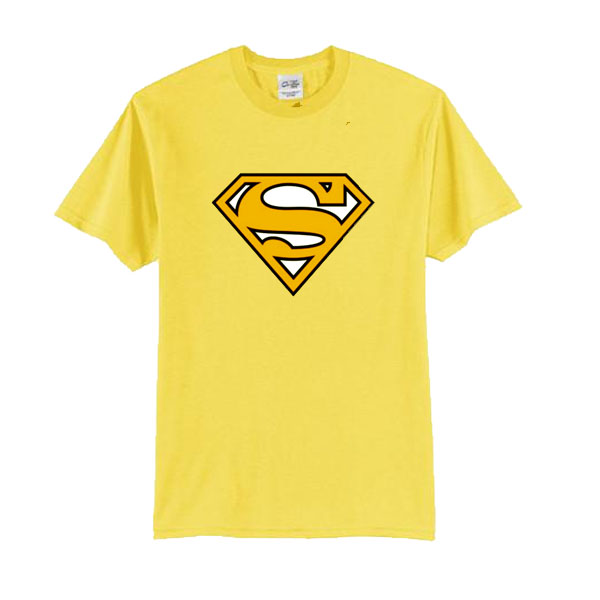 Yellow Superman Logo t shirt
