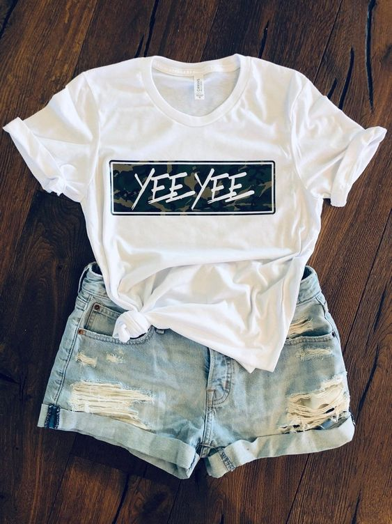 Yee Yee camo block t shirt