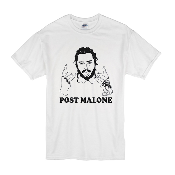 Vintage rapper Post leave me Malone t shirt