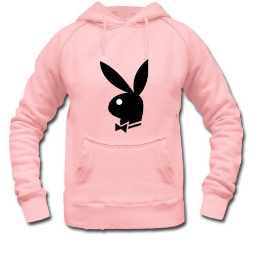 pink playboy hoodie