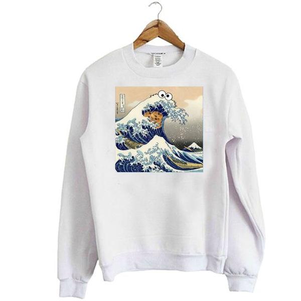 Cookie Monster Wave Sweatshirt