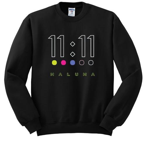 maluma 11 11 dots sweatshirt