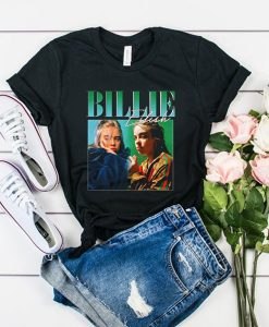 Billie Eilish 90s Vintage Black t shirt