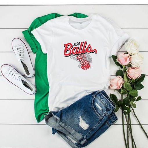 RISD Balls Basketball Logo t shirt
