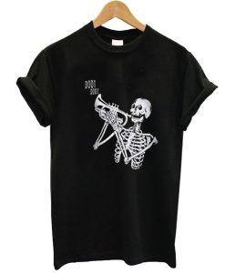Skeleton Trumpet t shirt